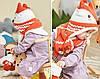 Детский набор шапка+шарф+варежки Лисёнок, фото 4