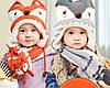 Детский набор шапка+шарф+варежки Лисёнок, фото 6