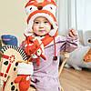 Детский набор шапка+шарф+варежки Лисёнок