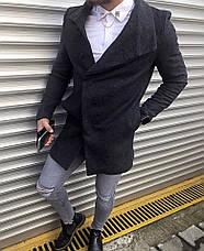 Мужское шерстяное (70%) демисезонное пальто 4 цвета в наличии, фото 2