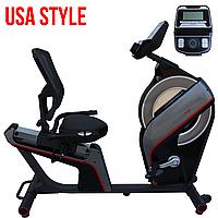 Кардио тренажер USA Style EV-EFIT-61705R серия Powermax,Встроенный,Скорость|Дистанция|Расход калорий|Частота пульса|Время,Тип Горизонтальный , 57, 12,