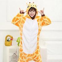 Модная,теплая пижама Кигуруми Жирафа, размер (L)