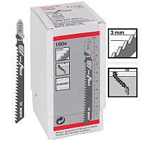 Пилка для лобзика Bosch T 111 C, HCS 100 шт/упак., фото 1