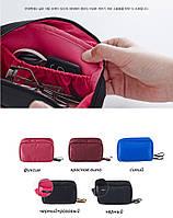 Косметичка с внутренними карманами Genner Cube бордовая 01031/01, фото 1