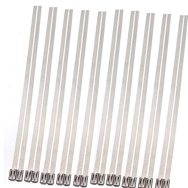 20шт из нержавеющей стали выхлопных изоляционных волокон Стекло обернуть трубкой галстук - 1TopShop