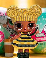 Схема для вышивки бисером А5 Пчелка