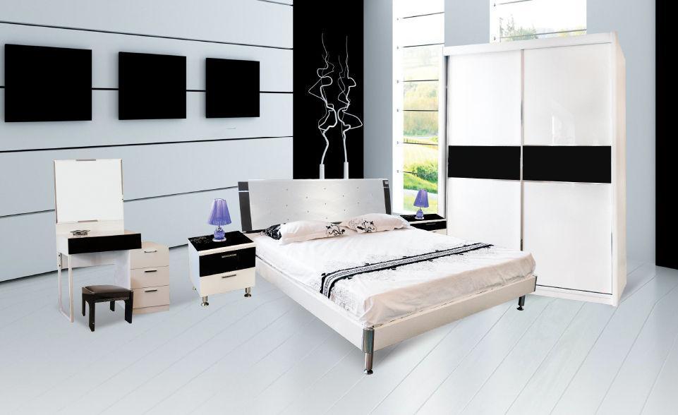 Спальня Ажур (Черный / Белый) (1,60 м.) (раскомплектовуется)