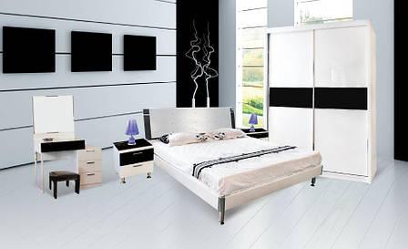 Спальня Ажур (Черный / Белый) (1,60 м.) (раскомплектовуется), фото 2