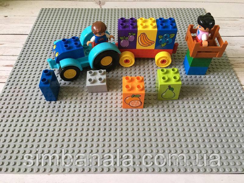 Базовая пластина для конструкторов LEGO 40x40см(светло-серая)