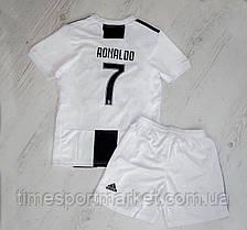 Футбольная форма Ювентус Роналдо домашняя бела-черная 2018-2019 (Реплика), фото 2