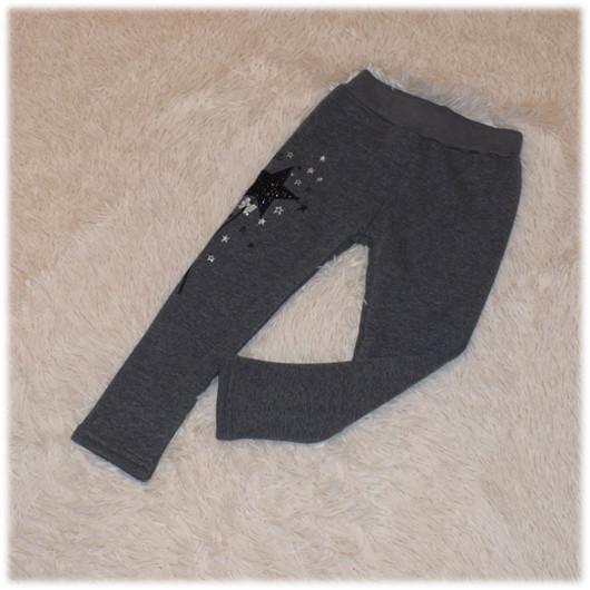 Лосины на девочку теплые на травке серого цвета Турция размер 146 152