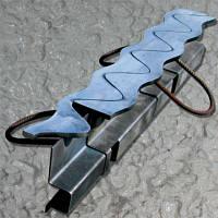 ПДШ  Синус-профиль Sin-130:  нержавеющая верхняя Sin-полоса  min высота  (h) 128мм, длина (L) 3м/2,4м толщина