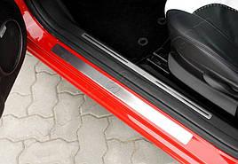 Накладки на пороги OmsLine (нерж) - Alfa Romeo 147 2000-2010 гг.