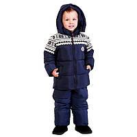 Детский зимний комбинезон для мальчика,76BLUE 86 см, Синий