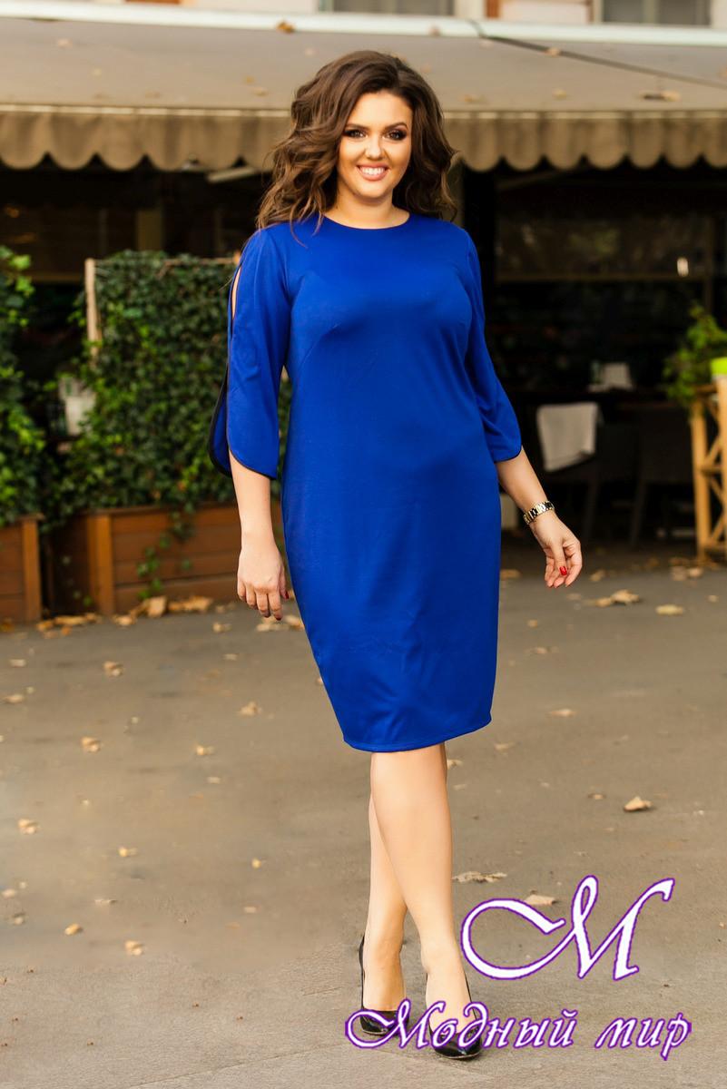 1730402c79d8233 Женское ярко-синее платье большого размера (р. 48-90) арт. Герда ...