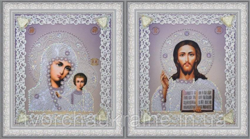 Набор венчальных икон (серебро) ажур (для вышивания бисером)