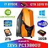 Супер современный ПК ZEVS PC 13800U i7 8700К +GTX 1070TI 8GB +16GB DDR4 + Игровая клавиатура