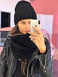 Женский комплект: вязаная шапка и шарф (6 цветов), фото 2