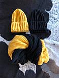 Женский комплект: вязаная шапка и шарф (6 цветов), фото 4