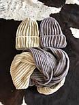 Женский комплект: вязаная шапка и шарф (6 цветов), фото 6