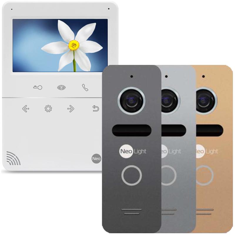 NeoLight TETTA и NeoLight SOLO комплект видеодомофона