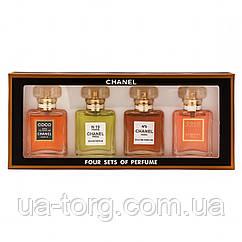 Женский подарочный набор Chanel Four sets of Perfume (4*20мл)