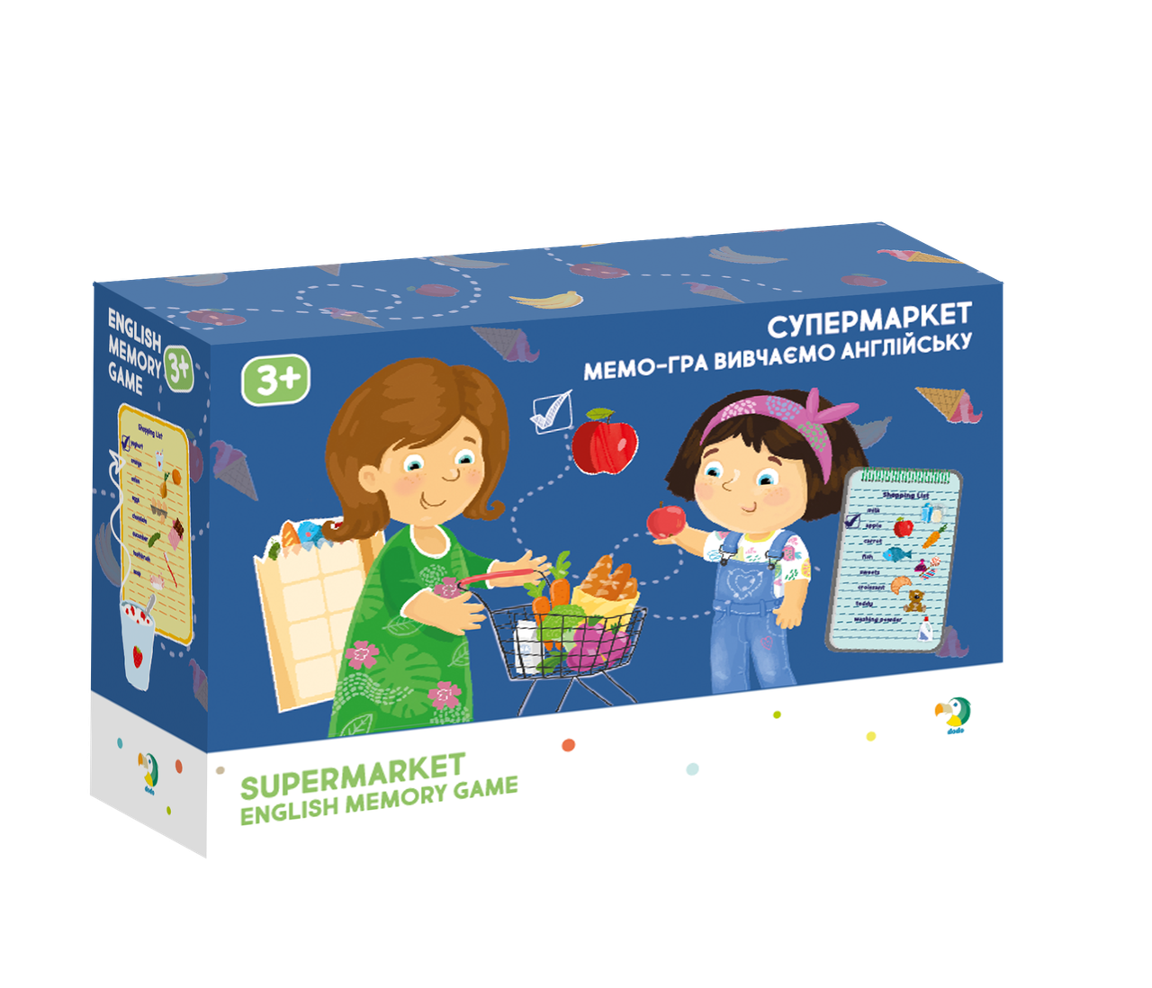 Настольная игра Мемо (английский): Супермаркет (Магазин) Додо / Dodo