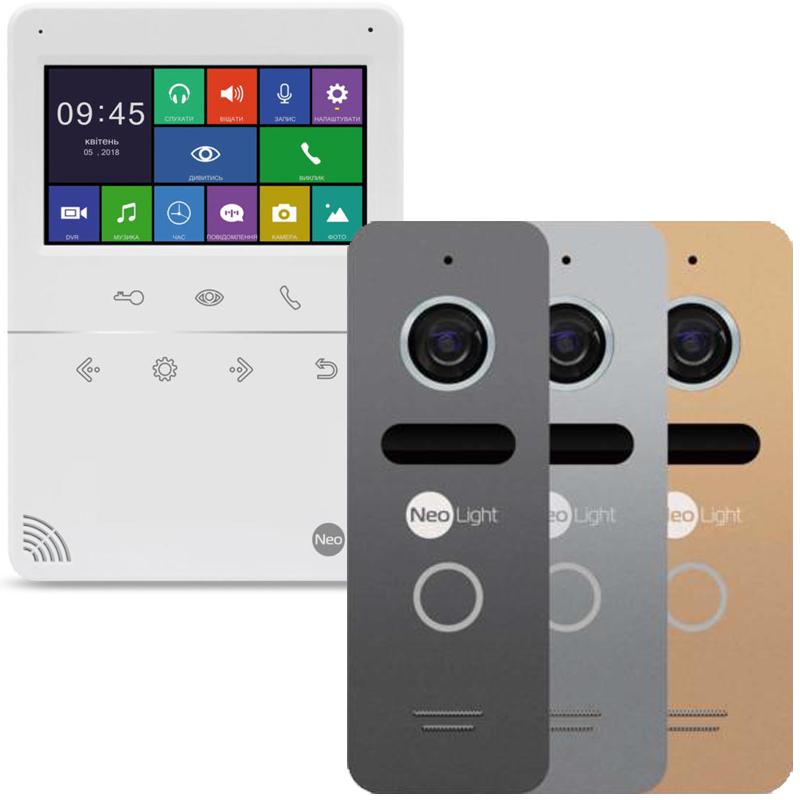 NeoLight TETTA+ и NeoLight SOLO комплект видеодомофона