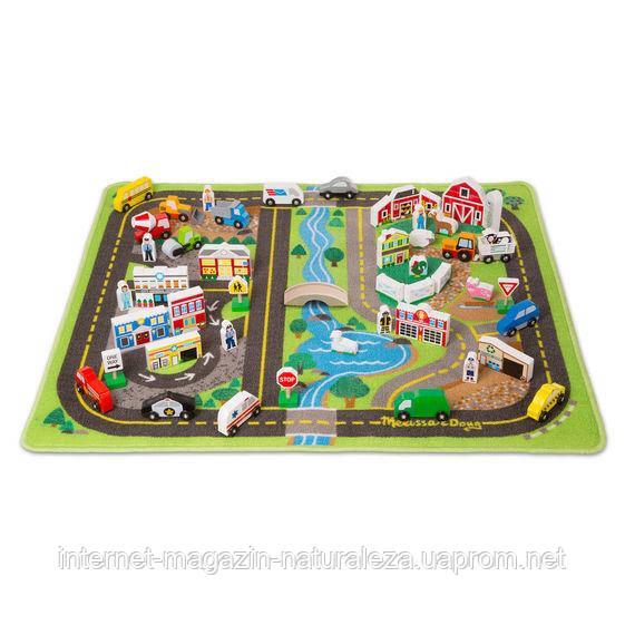 Мега-набір Дорожній килимок/дерев'яні іграшки Melіssa&Doug