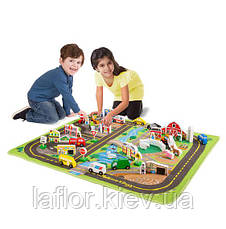 Мега-набір Дорожній килимок/дерев'яні іграшки Melіssa&Doug, фото 2