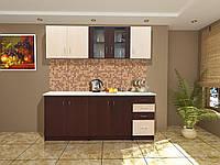 Кухня Венера 2.6 м, Венге светлый/темный (Світ Меблів ТМ)