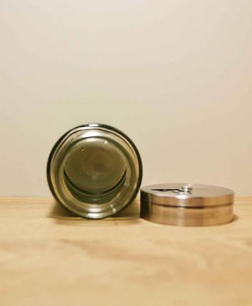 Банка солонка / перечница стекло-нержавеющая сталь 100мл, салатовая, фото 2