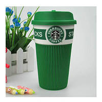 Термокружка Starbucks Green Старбакс керамическая - кружки Starbucks Старбакс