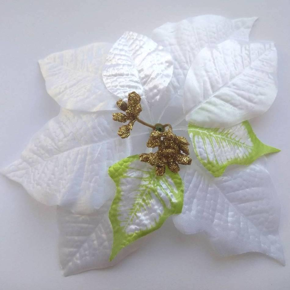 Пуансетия цветок 20 см белый
