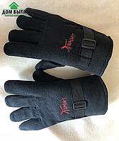 Перчатки на двойном флисе черные