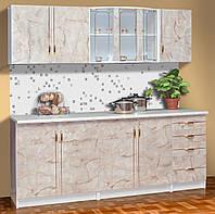 Кухня Карина 2.0 м, Белый/Мрамор (Світ Меблів ТМ)