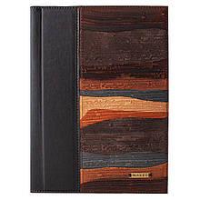 """Ежедневник А5 формата в кожаной обложке """"Фьорды"""". Цвет коричневый"""