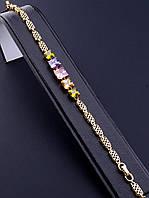 052033 Браслет 'XUPING' Фианит 18 см. (позолота 18к)