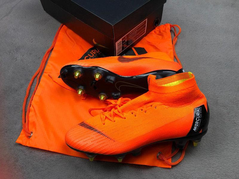 Бутсы Mercurial Superfly VI 360 Elite Anti-Clog SG-PRO Orange Топ реплика