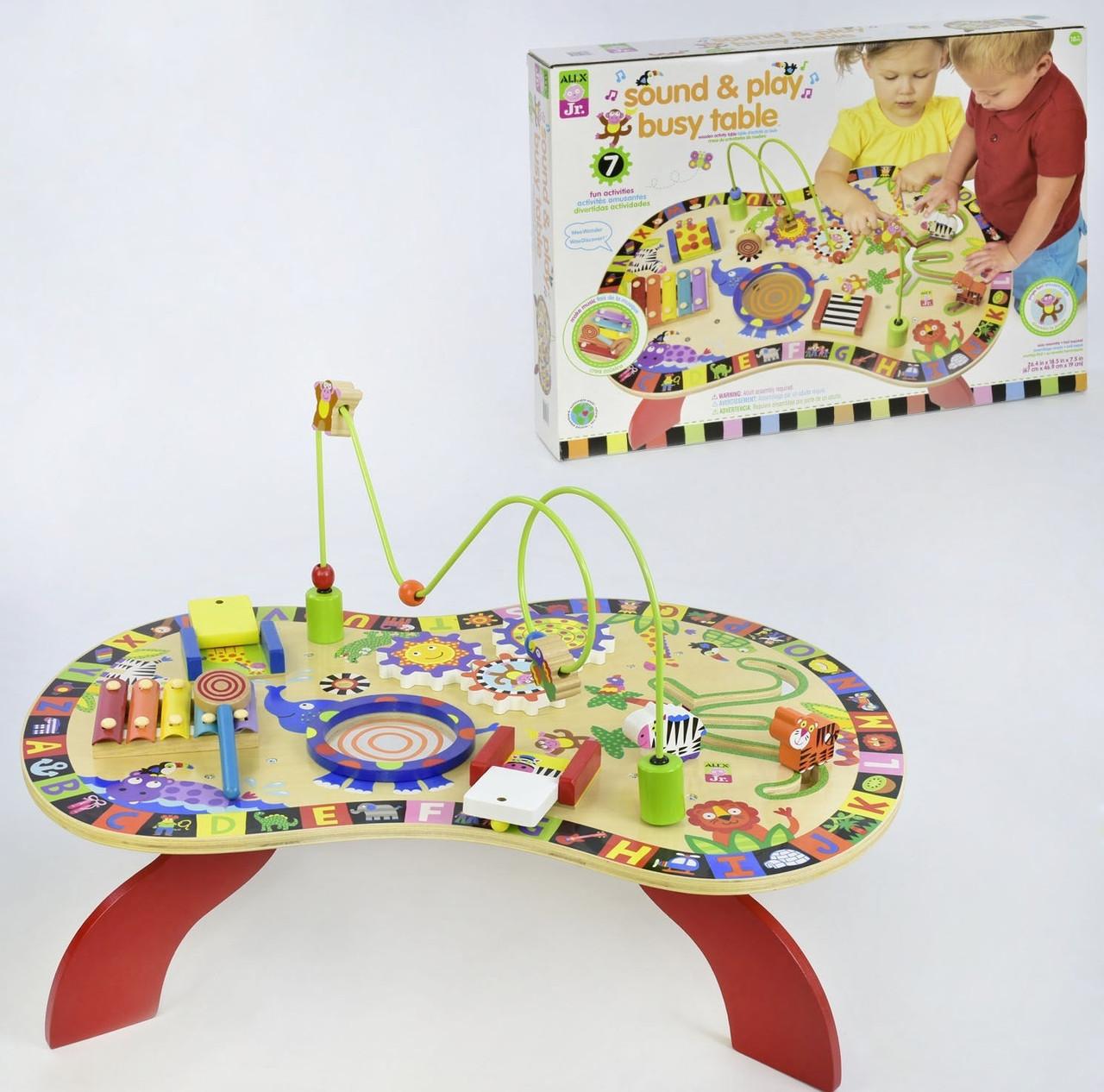 Jr. Allx Развивающая игра бизиборд Jr. Allx Деревянный столик (C 31760)