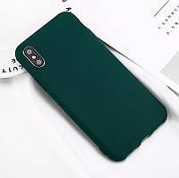 Стильный силиконовый чехол для Apple iPhone Х «iCase» (темно-зеленый)