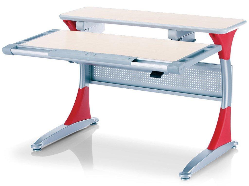 Детская парта растишка стол трансформер Goodwin HARVARD KD-333 тик - красный Comf-Pro