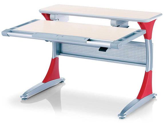 Детская парта растишка стол трансформер Goodwin HARVARD KD-333 тик - красный Comf-Pro, фото 2