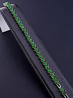 043656 Браслет 'XUPING' Фианит 17 см. (родий)