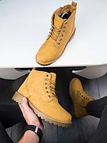 Мужские зимние ботинки снейдж рыжего цвета, фото 2