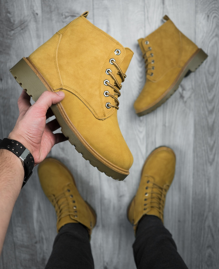 Мужские зимние ботинки снейдж рыжего цвета