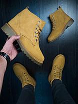 Мужские зимние ботинки снейдж рыжего цвета, фото 3