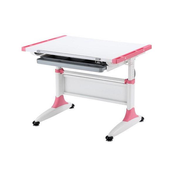 Детская парта растишка стол трансформер Goodwin CARDIFF К1 pink Comf-Pro с ящиком