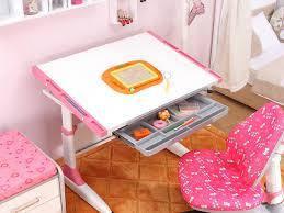 Детская парта растишка стол трансформер Goodwin CARDIFF К1 pink Comf-Pro с ящиком, фото 2