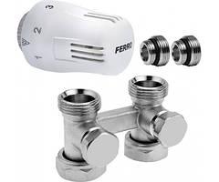 """Термостатический комплект прямой универсальний 1/2"""" (термостатическая головка, клапан, соединительный клапан) ZTV01"""